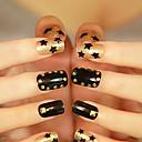 100PCS 2x2mm Redondez Nail Art Insignia de Oro Plata Rivet (colores surtidos)