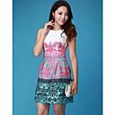 Womens Sleevless Print Mini Dress