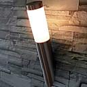 Luz de la pared al aire libre, 1 luz, Acero inoxidable Acrílico Pintura Minimalista