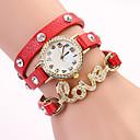 Koshi 2014 Amor Diamonade 3 reloj redondo de la Mujer (Rojo)