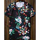 Jogal 3D Impresión floral de la historieta de la serie T Shirt (Pantalla T238 en color)