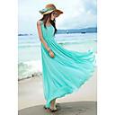 Frauen Böhmen reine Farbe Chiffon-Kleid