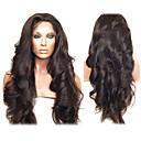 20inch peruana Virgen del pelo humano pelucas llenas del cordón de la rayita natural
