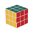 3x3x3 55mm velocidad Puzzle Cubo Mágico Blanco Edge