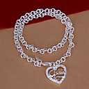 Vilin Womens Silver Heart  Necklace