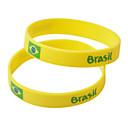 Brasil 2014 Copa del Mundo Amarillo Silica Gel Pulseras