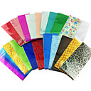 10PCS Mix Colors Laser Foil Decoración de uñas Nail Stickers Starry (color al azar)
