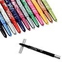 12 colores de maquillaje cosmético Rotación Delineador de Ojos Sombras Pen Labial Line Pen Lápiz Cejas 10832