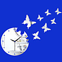 17.75H Modern Style Butterfly Mirror Wall Clock
