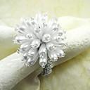 Pearl Flower Napkin Ring, Pearl Glass, Dia4.5CM, Set of 12