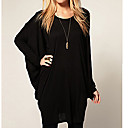 Womens Round Batwing Sleeve Loose Knitwear Blouse