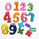 Matemáticas de símbolos coloridos divertido del refrigerador de madera Imanes de juguetes educativos (Número 0-9 y firme)