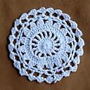 Conjunto de 24, Ronda de ganchillo Doilies Coaster para la decoración del hogar de la boda