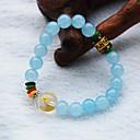Maya Natural Blue Agate Beads Charm Bracelet