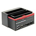 892U2S Todo en Uno HDD USB 2.0 a SATA Estación Dual-acoplamiento para disco duro SATA 3.5 (Negro y Rojo)