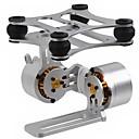 2 ejes de aluminio sin cepillo del montaje de cámara del cardán con motor para Gopro3 DJI Phantom