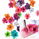 36PCS Colorful secas Nail Art Decoraciones Peach Blossom