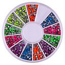 2mm Mixed Color Nail Art Decoraciones Redondez Rivet
