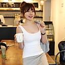 Womens Sexy Backless 100% Cotton Bodycon Sleeveless T-shirt