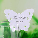 Chic Butterfly Shaped Place Card for Wine Glass - Set of 12
