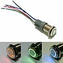 16mm Angel Eye Latching Push Button Switch DC 12V  With the socket