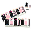 4x7PCS Pink Beauty of Girl Nail Art Stickers
