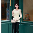 Luto New 2014 Losse Lace Slim Fit Long Sleeves Chiffon Shirt With Puff Sleeves