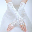 Tulle Fingerless Elbow Length Wedding/Party Glove