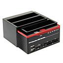 893U2S multifunción HDD USB 2.0 a SATA Estación Dual-acoplamiento para disco duro SATA 3.5 (Negro y Rojo)