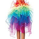8 Capa Rainbow Tulle Bouffant cola de la Mujer Burlesque Party Dance Club Falda