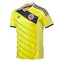 SoccerJersey manga corta de los hombres de color amarillo