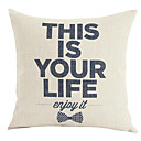 Modern Minimalism Motto This Is Your Life Decorative Pillow Cover