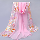 Pink High-quality Soft Chiffon Flower Sunscreen Long Scarf