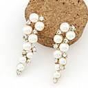 Aretes de perla de la manera del Rhinestone Kushang