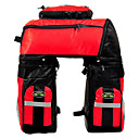 FJQXZ Rear Pannier Bike Bag 70L Large Capacity Waterproof Red 600D Polyester  Bike/Bicycle Bag