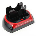 """CP-875U3-J All-in-1 2.5 """"3.5"""" IDE / SATA Docking / eSATA HDD con lector de tarjetas (Rojo y Negro)"""