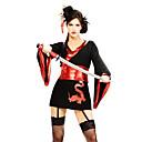 Sexy Samurai Black Polyester Womens Halloween Party Costume