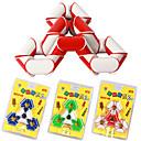 1.7cm Redondez plástico Cubo Mágico Puzzle Toy Shape 24 Piezas Triangle (color al azar)