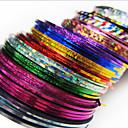 24PCS Mixs rayas del color de uñas Line Tape raya Nail cinta engomada de la decoración del arte