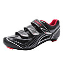 Tiebao Hombres Negro  Silvery transpirable Road Bike Cycling Shoes
