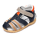 Image For Talon plat en cuir Boy 'Sandales Confort avec Magic Tape Chaussures (Plus colors)