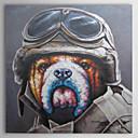 Pintado a mano de pintura al óleo animal Sr. Piloto