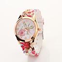 Cdong Vintage Flor de silicona reloj de la correa