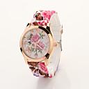 Cdong Vintage Flor de silicona reloj de señoras