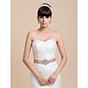 Boda hermosas del satén de las mujeres / Bridal cinta Sash con diamantes de imitación (más colores)
