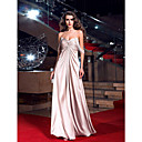 Sheath/Column Off-the-shoulder Floor-length Stretch Satin Evening Dress inspired by Goldie Hawn