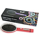 Loof eléctrico de masaje por vibración del cepillo de pelo del peine de la circulación de sangre roja (1 x AA)