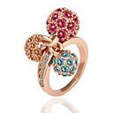 Anillo de la Mujer meles cristalino 18K de oro rosa Diamande