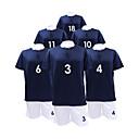 manga corta traje de fútbol de los hombres de color azul oscuro y negro