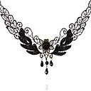 Omuto del nuevo cordón de la pluma del Palacio Gótico Vampire Collar (Negro)